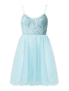 Miętowa sukienka Luxuar mini