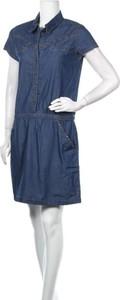 Niebieska sukienka So Soon By Women Dept mini z krótkim rękawem
