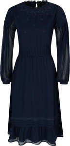 Sukienka Pepe Jeans midi z długim rękawem