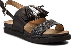 Czarne sandały Maciejka w stylu casual z klamrami