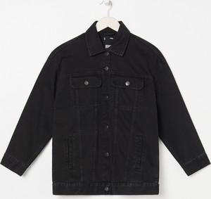 Czarna kurtka Sinsay krótka w stylu casual z jeansu