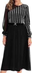 Sukienka Premiera Dona z długim rękawem z tkaniny