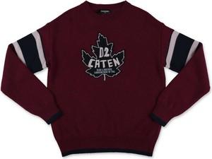 Czerwony sweter Dsquared2