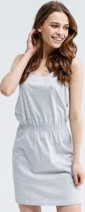 Sukienka Lotto z okrągłym dekoltem mini w stylu casual