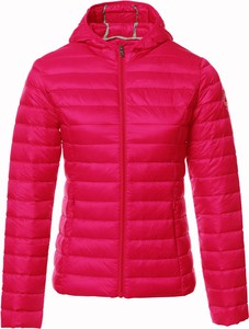 Różowa kurtka Jott w stylu casual z tkaniny krótka