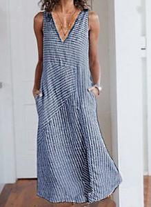 Niebieska sukienka Sandbella maxi