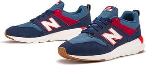 Granatowe buty sportowe New Balance z zamszu