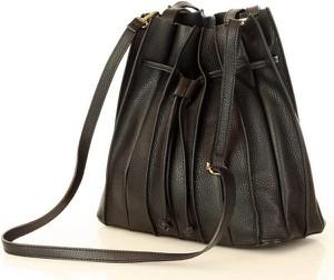 Czarna torebka Merg w wakacyjnym stylu duża