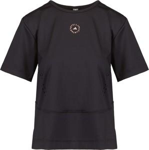 Czarny t-shirt Adidas z dzianiny w sportowym stylu