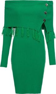 Sukienka bonprix BODYFLIRT boutique dopasowana w stylu boho midi