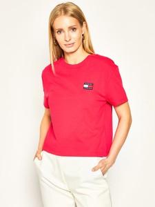 T-shirt Tommy Jeans z krótkim rękawem z okrągłym dekoltem z nadrukiem
