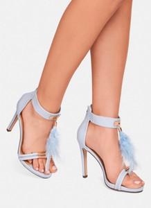 Niebieskie sandały deezee na szpilce