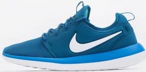 Niebieskie buty sportowe Nike roshe sznurowane