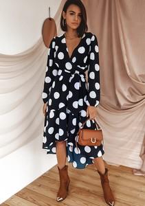 Granatowa sukienka Latika dopasowana