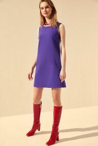 Fioletowa sukienka Trendyol mini bez rękawów