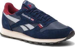 Buty sportowe Reebok sznurowane w sportowym stylu ze skóry