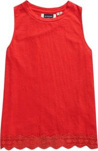 Czerwona bluzka Superdry bez rękawów