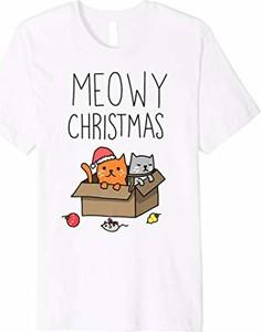 Bluzka Meowy Christmas z krótkim rękawem