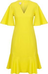 Sukienka Pinko z dekoltem w kształcie litery v z krótkim rękawem
