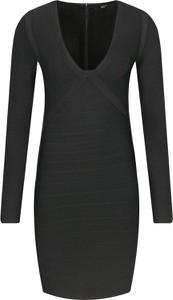 Czarna sukienka Marciano mini z długim rękawem w stylu casual