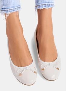 Baleriny DeeZee w stylu glamour z płaską podeszwą