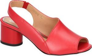 Sandały SIMEN w stylu klasycznym na średnim obcasie