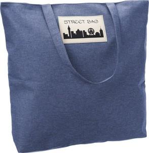 Niebieska torebka producent niezdefiniowany ze skóry ekologicznej w wakacyjnym stylu