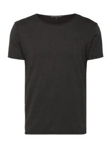 Czarny t-shirt Drykorn z krótkim rękawem