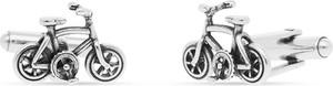 W.KRUK Spinki do koszuli srebrne rowery WWK/MS1467