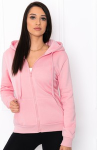 Różowa bluza Edoti krótka w młodzieżowym stylu