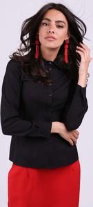 Czarna koszula Nommo z kołnierzykiem