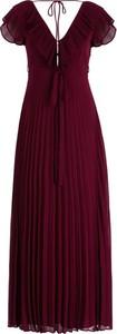 Czerwona sukienka Twinset z dekoltem w kształcie litery v