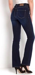 Granatowe jeansy Happy Holly z dzianiny