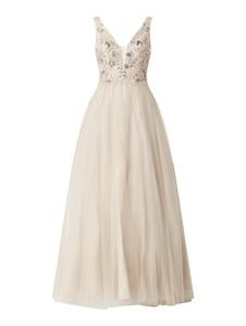 Sukienka Unique bez rękawów z tiulu