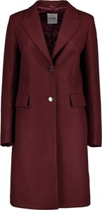 Czerwony płaszcz Lavard w stylu casual z wełny
