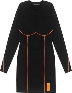 Czarna sukienka LOCAL HEROES z długim rękawem mini