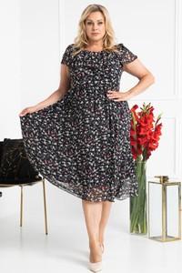 Czarna sukienka KARKO z szyfonu
