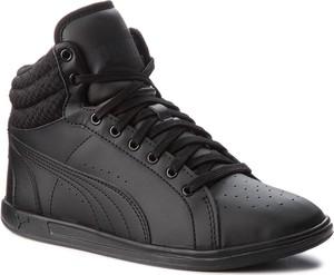 Czarne buty sportowe Puma ze skóry ekologicznej