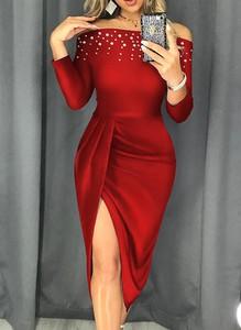 Czerwona sukienka Cikelly midi