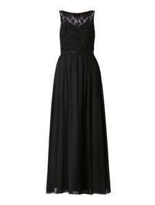 Czarna sukienka Laona z szyfonu prosta