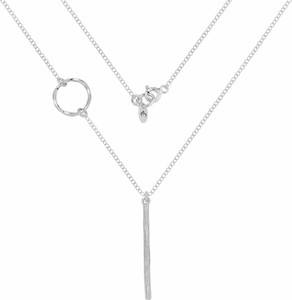 Perlove Srebrny Naszyjnik z Kółeczkiem