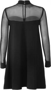 Czarna sukienka JO-LI z długim rękawem midi