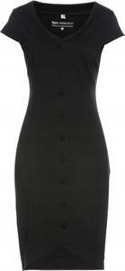 Czarna sukienka bonprix z krótkim rękawem ołówkowa