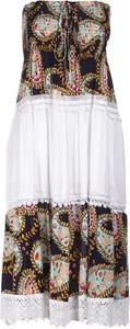 Granatowa sukienka Multu dla puszystych bez rękawów