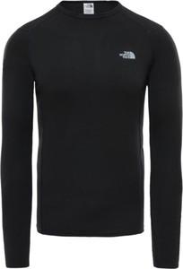 Czarna koszulka z długim rękawem The North Face z tkaniny