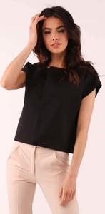 Czarna bluzka Nommo w stylu casual z okrągłym dekoltem