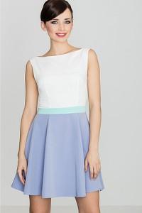 Sukienka LENITIF bez rękawów mini z okrągłym dekoltem