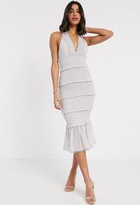 Sukienka Asos z dekoltem w kształcie litery v midi