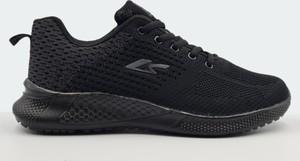 Czarne buty sportowe Labuty z płaską podeszwą