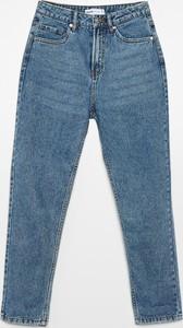 Niebieskie jeansy Cropp z bawełny w street stylu